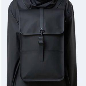 RAINS Black Backpack